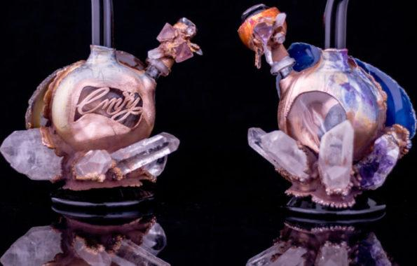 Brazilian Agate Rigs Electroformed water pipe