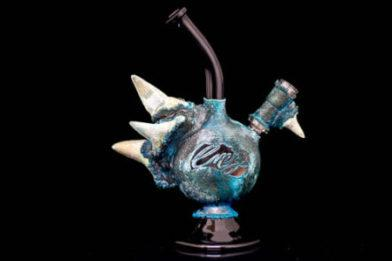 Fossilized Shark Teeth Electroformed water pipe
