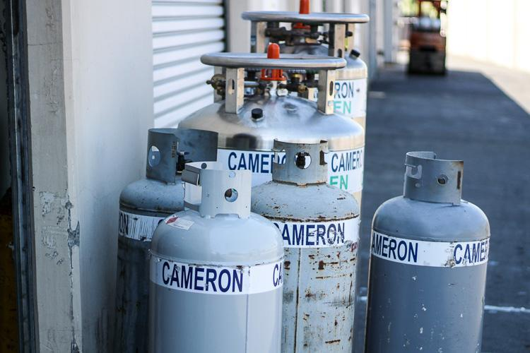 Oxygen & propane tanks